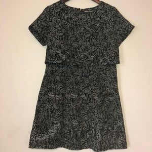 """Cute navy with white """"faux sequined"""" dress"""